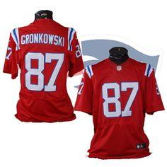 #87 Rob Gronkowski New England Patriots Red XL Nike Jersey #Nike #NewEnglandPatriots