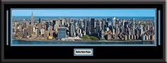 New York City US Skyline Panoramic Comes With 1 1/2 Inch Black Leather Frame-D/Matted W/Small Plaque Art Print - Large Framed Picture - Awesome and Beautiful! This Is a Must for Any Home or Office Decor! Art and More, Davenport, IA http://www.amazon.com/dp/B00KIMERYU/ref=cm_sw_r_pi_dp_ursEub0Q8PFN0