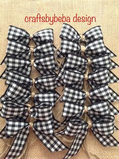 Christmas Black and White Decorative Bows – Buffalo Plaid Small Bows – Gingham Small Bows – Set of 14 Small Bows – Handmade and Design in Plaid Ribbon with this Christmas Tree Decorations Ribbon, Black Christmas Trees, Plaid Christmas, Rustic Christmas, Christmas Ornaments, Christmas 2019, Christmas Tree Ideas 2018, Christmas Swags, Christmas Vacation