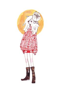 Red Sweater by koyamori.deviantart.com on @deviantART
