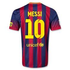 13-14 Barcelona #10 MESSI Home Soccer Jersey Shirt