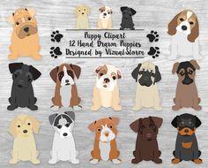 Cute Puppy Clipart Puppy Dog Clipart Pet Scrapbook Clipart