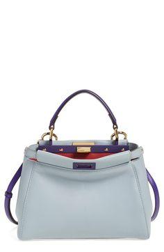 Fendi 'Mini Peekaboo' Colorblock Leather Bag
