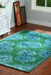 Turq Flora Hand Tufted Woolen Viscose Carpet Your Style, Flora, Carpet, Contemporary, Stuff To Buy, Home Decor, Homemade Home Decor, Plants, Rug