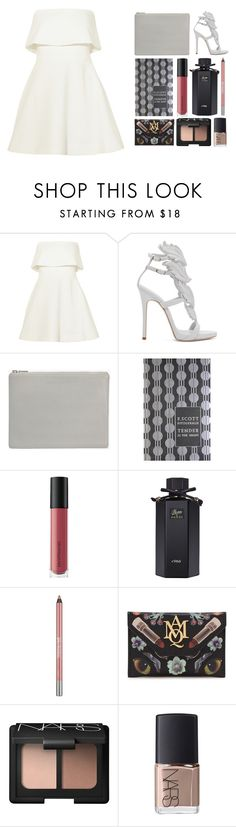 """4.548"" by katrina-yeow ❤ liked on Polyvore featuring Elizabeth and James, Giuseppe Zanotti, Status Anxiety, CO, Bare Escentuals, Gucci, Urban Decay, Alexander McQueen and NARS Cosmetics"