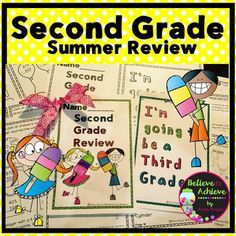 $Grade 2 Math Summer Review! This set of 16 pages of math work is perfect for summer review! It makes a cute 1/2 page size booklet with lots of fun math practice!Answer Keys are included!