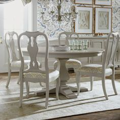 Shop dining room sets dining room table dining room table best of shop dining room tables . Dining Table In Kitchen, Dining Room Sets, Round Dining Table, Dining Chairs, Round Tables, Ethan Allen Dining, White Stool, Shop Interior Design, Custom Furniture