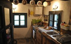 Intera casa/apt a Hoteni, Romania. If you are a couple and want space and a whole house to yourself, or your a group of up to 7 people, this is the house for you. Wood House Design, Village Hotel, Storybook Cottage, House In The Woods, Traditional House, My Dream Home, Interior, Kitchen, Room