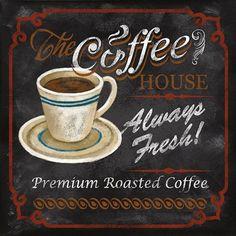 The Coffee House by Conrad Knutsen art print