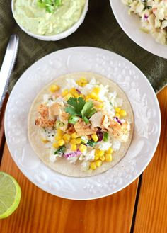 Jerk Fish Tacos with Asian Slaw and Avocado Lime Sauce - Fit Foodie Finds Best Chicken Salad Recipe, Caprese Salad Recipe, Salmon Salad Recipes, Chopped Salad Recipes, Spinach Salad Recipes, Greek Salad Recipes, Easy Salad Recipes, Healthy Meats, Healthy Meat Recipes