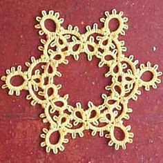 Cro-tatting! Tatting with a crochet hook. My grandmother made beautiful tatted lace using a shuttle but I never could get the hang of that. This looks like it would be worth a try!
