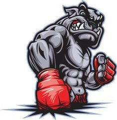 Illustrations, arts and drawings related to Fitness and Gym Activities. Mascot Design, Logo Design, Mma, Bulldog Tattoo, Bulldog Logo, Bulldog Mascot, Gym Logo, Animal Logo, The Villain