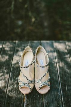 Jeweledy Jimmy Choo Bridal Booties | photography by