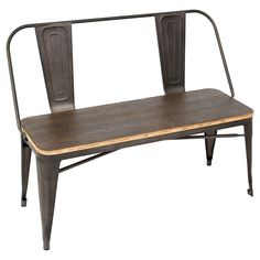 LumiSource Oregon Dining Bench - Espresso
