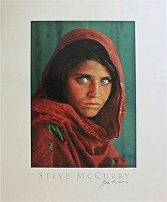 Steve McCurry  Sharbat Gula, Afghan Girl, Pakistan Poster (Signed) , 1984  Offset Lithograph Poster