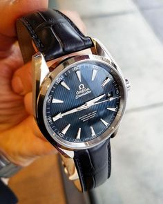 REPOST!!!  #Omega #Seamaster #AquaTerra . #dailywatch  #watchporn #wristwatch #style #classicwatches #luxury #chronograph  #watches #timepiece  #wristwatch  #milionaresclub #watchfam #wristcandy  #dailywatch #wwatches #mondani  #rolexero  #rolexwrist #rolexwatch@EsosiVintage #Hodinkee #mondani  #rolexero  @ptk_phlpp #crownandcaliber @crownandcaliber #theoandharris #federicotalkswatches #SIHH  Photo Credit: Instagram ID @my_daily_watch_observations