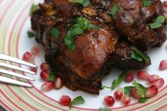 Authentic Georgian Chicken In Pomegranate And Tamarind Sauce