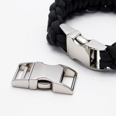 """Paracord Bracelet with 1/2"""" Metal Buckles"""