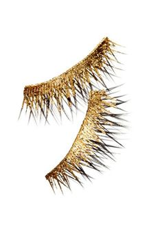 8b641fb9502 24K gold lashes (Barney's) this would be fabulous with a black and ...