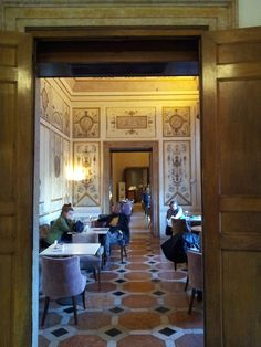 Restaurant at the Museo Correr, St Mark's Square, Venice from www.atthepinkhouse.tumblr.com