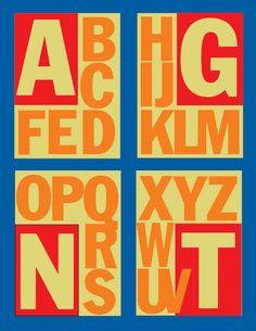 Alphabet No. 29 Franklin Gothic cond.