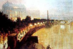Le Victoria Embarquement De Hawkford pont de George Hyde Pownall (1876-1932)
