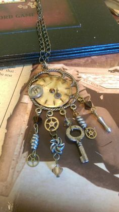 Steampunk junk necklace by twiggy1020 on Etsy