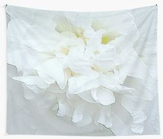White flower in relief. • Also buy this artwork on home decor, apparel, stickers, and more.
