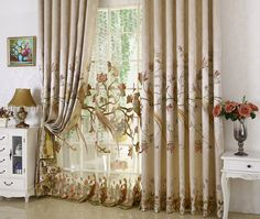 High Grade Luxury Window Curtains For The Living Room Embroidered Floral Blackout Cloth For the Bedroom Tulle Cortinas Peacock Curtains, Tulle Curtains, Cheap Curtains, Kids Curtains, Window Curtains, Bedroom Curtains, Rustic Window Treatments, Window Treatments Living Room, Living Room Windows