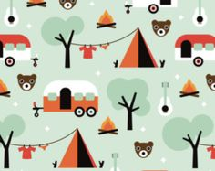 Spoonflower's Vintage colorful traffic designed by by Spoonflower