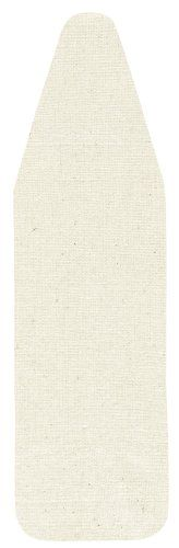 Household Essentials Wide-Top Ironing Board Pad and Cover, Natural Cotton Canvas
