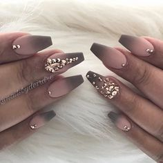 For the boo #ombré #clevelandnails #swarovski #matte #rosegold #clevelandnailtech #nailsofinstagram
