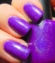 Lilypad Lacquer Popping Purple is a vivid blue-toned purple holo.  15mL<br>From Lilypad Lacquer:<br>All my lacquers are Hand mixed 5 FREE nail lacquers <br>Made in Australia and are free of:<br>Toluene, Formaldehyde, TSF resin, Camphor or DBP<br>IMPORTANT - PLEASE READ<br>By purchasing one of my products, please understand that you are purchasing a hand crafted item, not one that has been mass produced. Each and every o...