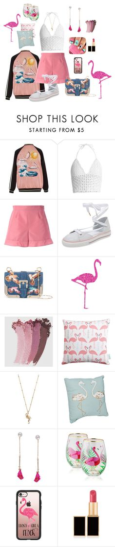 Flamingos by marlaj-50 on Polyvore featuring RED Valentino, Humble Chic, LC Lauren Conrad, Casetify, Gucci, Tom Ford, Rosa & Clara Designs and Home Essentials