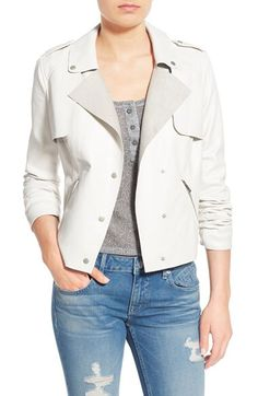Thread & Supply Thread & Supply Faux Leather Moto Jacket available at #Nordstrom