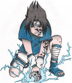Resultado de imagen para sasuke dibujo chidori