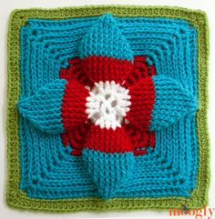 Summer Solstice by Margaret MacInnis - the latest free afghan square pattern in the Moogly CAL!