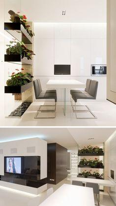 Wondrous Minimalist Interior Design with Room Divider Ideas Divider Design Bedroom Divider, Living Room Divider, Living Room Partition, New Living Room, Room Seperator Ideas, Küchen In U Form, Divider Design, Divider Ideas, Wooden Room Dividers