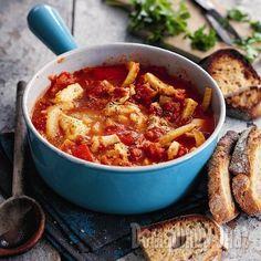 Лигурийские рыбное рагу. Сытное блюдо с томатами и ароматом фенхеля.