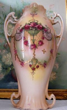 Huge Victorian Amphora Vase