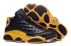 huge discount 68999 3b28d New Carmelo Anthonys Air Jordan 13 Black Yellow Leather 2018 -  Mysecretshoes Nike Kd Shoes,