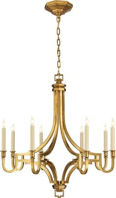 Mykonos Small Chandelier in Antique-Burnished Brass : CHC 1561AB | Timberlake Lighting