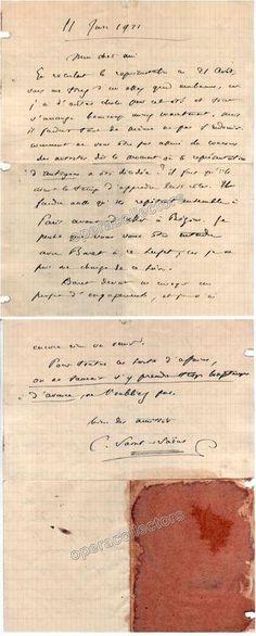 Saint-Saens, Camille - Autograph Letter Signed