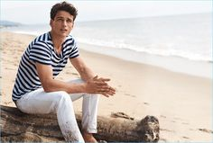 Simon Nessman takes to the beach with POLO Ralph Lauren for the brand's spring 2017 outing.