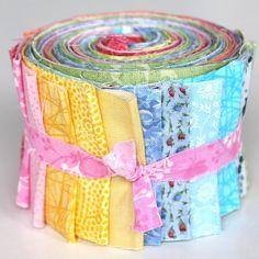 """Jelly Roll - pastell - 20 verschiedene Stoffe, Stoffzusammenstellung variiert - 20 x (2,5"""" x 43"""" - ~ 6,35 cm x 110 cm)  aq-146-1110"""