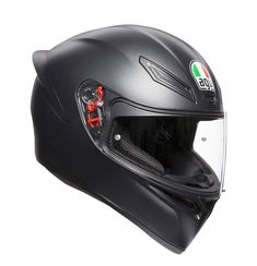 Aerodynamic shape, racing-developed front air vents and wind-tunnel engineered aero spoiler maximize performances while provi, motorcycle Motorcycle Equipment, Motorcycle Helmets, Agv Helmets, K 1, Air Vent, Looking To Buy, Full Face, Sport, Matte Black
