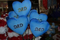 Dad Hearts! Show your beloved dad you miss and love him!