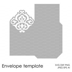 Envelope Template Instant Download cutting file от EasyCutPrintPD