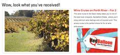 RedBalloon Wine Cruise on Perth River