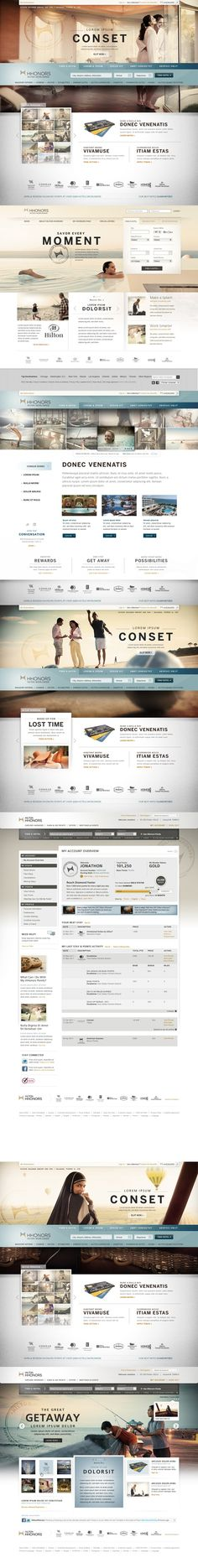 Hilton HHonors on Web Design Served